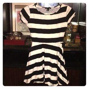 A mini waisted dress